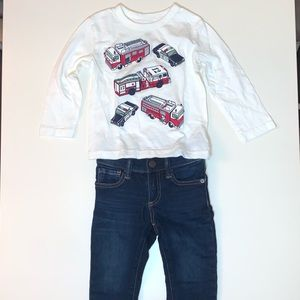 Gap Toddler Boy Outfit Set Size 18-24 Months